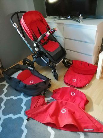 Wózek bugaboo Cameleon 2 zestaw 2w1 czerwone dodatki