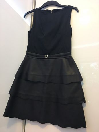 Elegancka czarna sukienka mini rozmiar 36