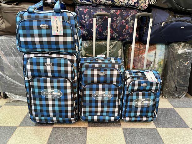 Самые легкие чемоданы на 2 колесах Foxy Line
