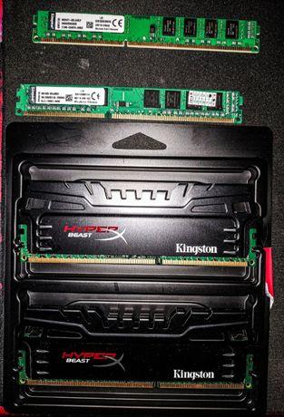 Продам оперативную память Kingston DDR3 4 гиги, 4 планки