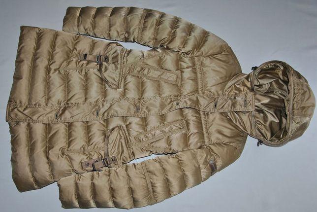 Peuterey płaszczyk puchowy Beaver złoty kurtka gęsi puch