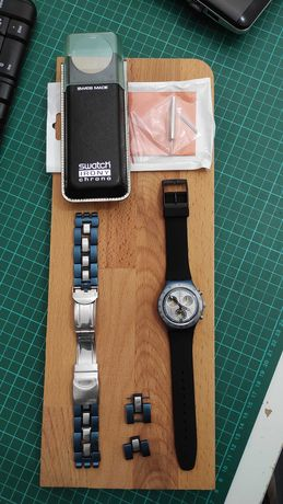 Relógio Swatch Irony Cronógrafo Alumínio