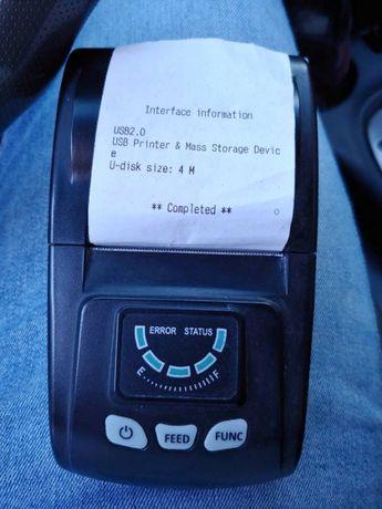 Принтер Wi-Fi чековый термопринтер + USB переносной портативный