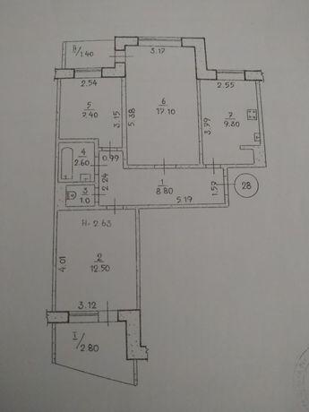 Продам 3х комнатную квартиру на восточном