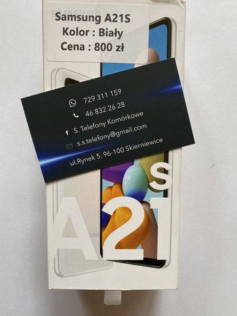Telefon Samsung a21s Biały