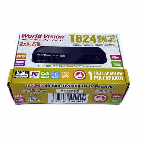 Т2 тюнер, ресивер World Vision T624M2 цифровой эфирный приемник
