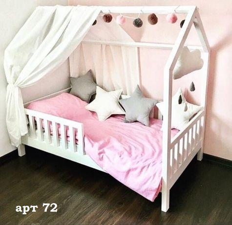 Кровать домик массив ольхи детская.Будиночок ліжко дитяче.Дом.арт 12