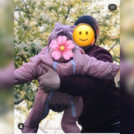 Демисезонный комбинезон для девочки с 6 месяцев до 1 годика