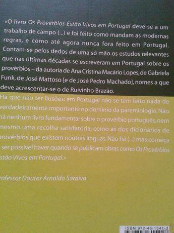 Os Provérbios Estão Vivos em Portugal - José Ruivinho Brazão