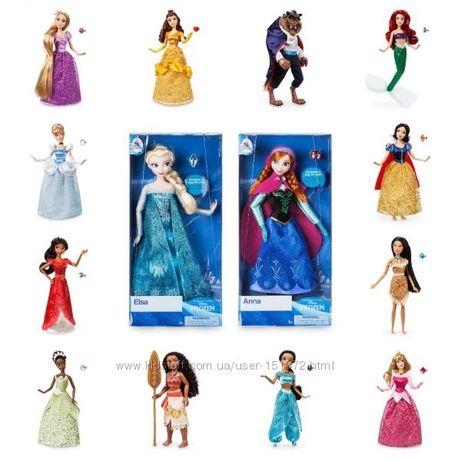 Куклы Disney Рапуцель, Белоснежка Бель Тиана Шарлота Ариел Жасми Моана