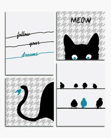 Obraz 64x76 kot meow