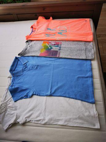 152 zestaw bluzeczka 4szt. Lato h&m next t-shirt 146