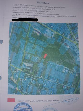 Продається земля під забудову площею 0.1000га