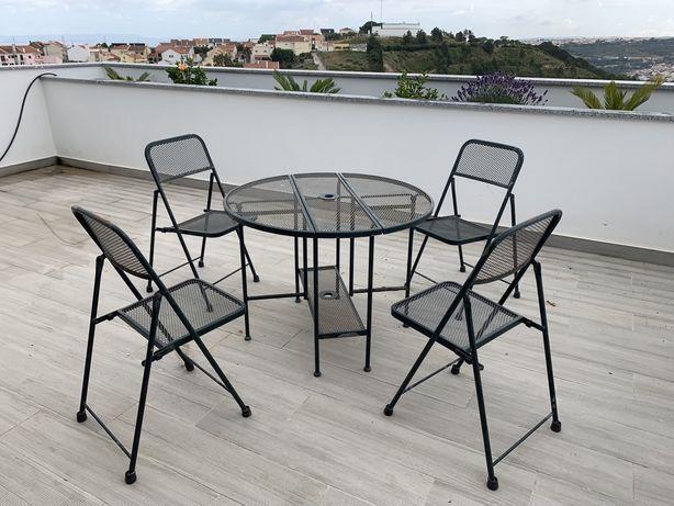 Mobiliário Jardim 1 mesa + 4 cadeiras