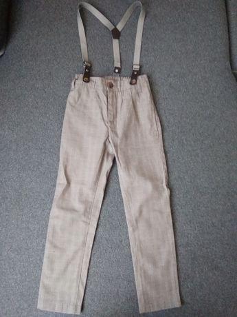 Spodnie wizytowe z szelkami