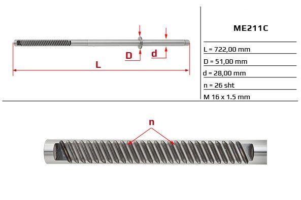 Listwa zębata przekładni kierowniczej Mercedes W163