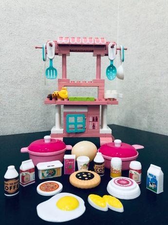Детская игрушечная кухня, конструктор для девочек. Игровой набор Кухня