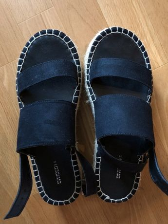 Sandały czarne h&m lato