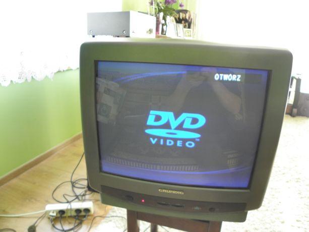 "telewizor 14"" grundig + odtwarzacz dvd panasonic"