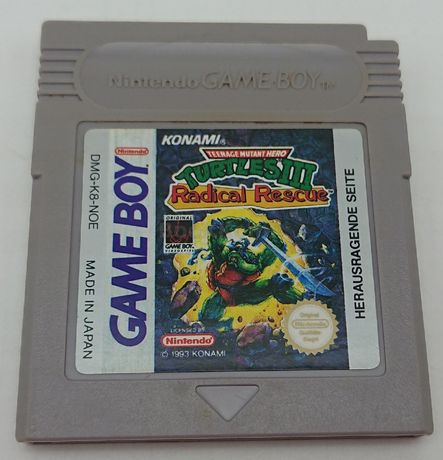 Teenage Mutant Ninja Turtles III Radical Rescue Game Boy Nintendo BOX