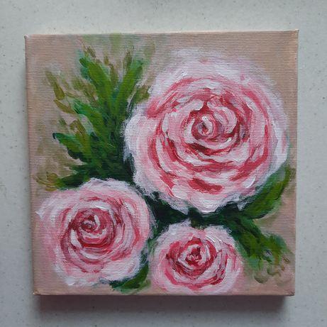 """Картина """"Розы"""", размер 20*20, написана акрилом"""