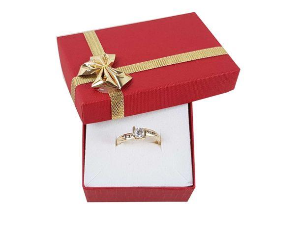 Złoty pierścionek z cyrkoniami P585 2,88G R19