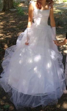 Продам свадебное (выпускное) платье. 5000р.