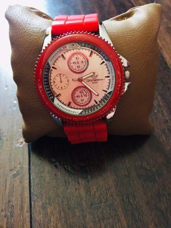 Часы s-sport Armani красный ремешок