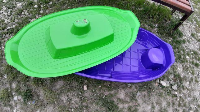 Пісочниця дитяча з кришкою, басейн, лодочка