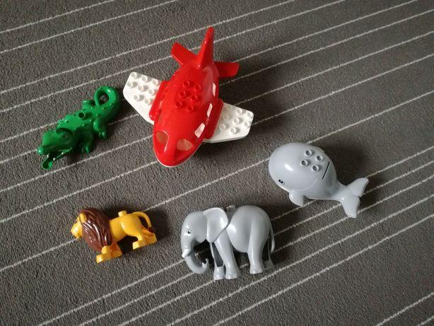 Samolot, zwierzęta lego duplo