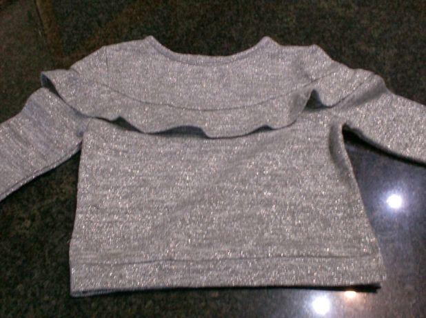 Camisola menina, 1-2 anos, cinzenta