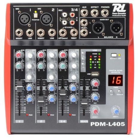 4 kanałowy mixer Power Dynamics PDM-L405 Sklep Wągrowiec