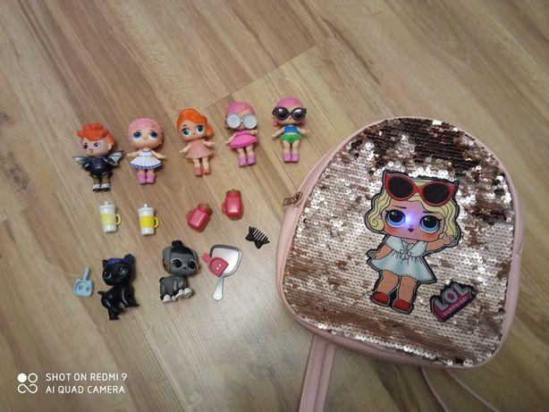 Lalki LOL+ plecak & Kucyki Pony+ torebka