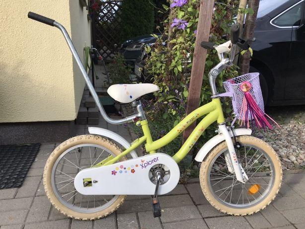 """Rower Rowerek małej księżniczki 16"""" z koszyczkiem i supportem gratis"""