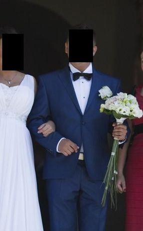 Garnitur ślubny granatowy Giacomo Conti 170/104/90 + dodatki