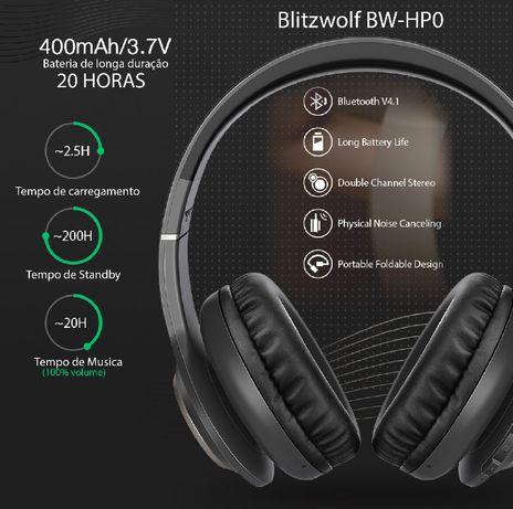 Fones bluetooth Blitzwolf BW-HP0 como novos