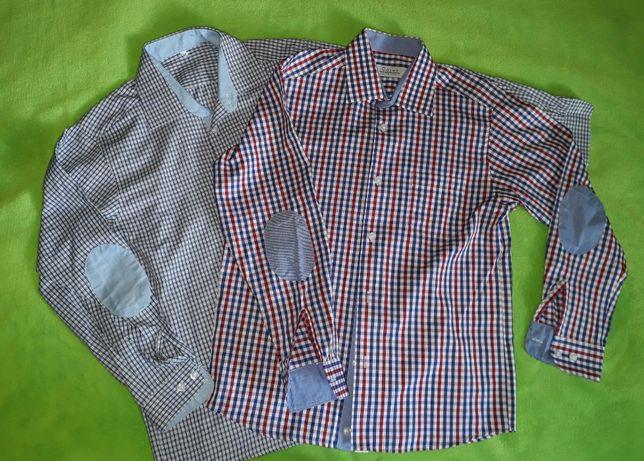 Koszula dla chłopca 152 158 długi rękaw krata
