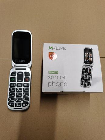 M-Life Seniorfon Ml0653 Srebrny Klapka