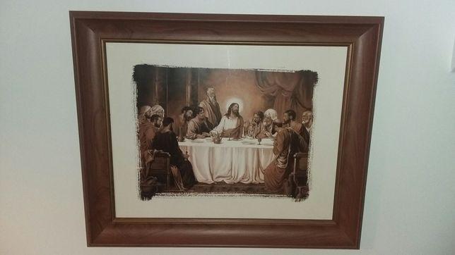 Obraz w ramie ostatnia wieczerza 50 x 60 religijny