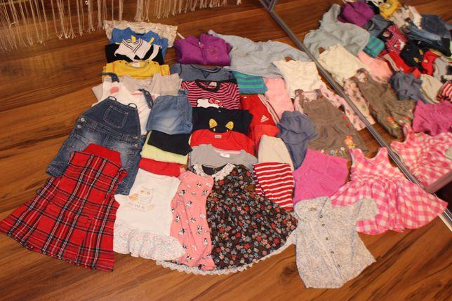 Duży zestaw ubrań dla dziewczynki rozm 68-74: hm,coccodrill