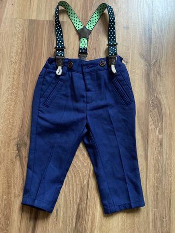 H&M Eleganckie spodnie na szelkach 6-9 miesiecy
