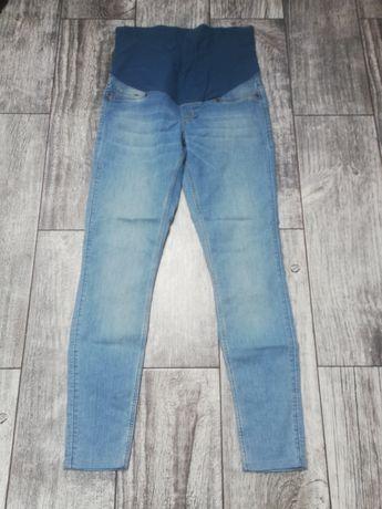 Spodnie, dżinsy ciążowe h&m MAMA 42 niebieskie