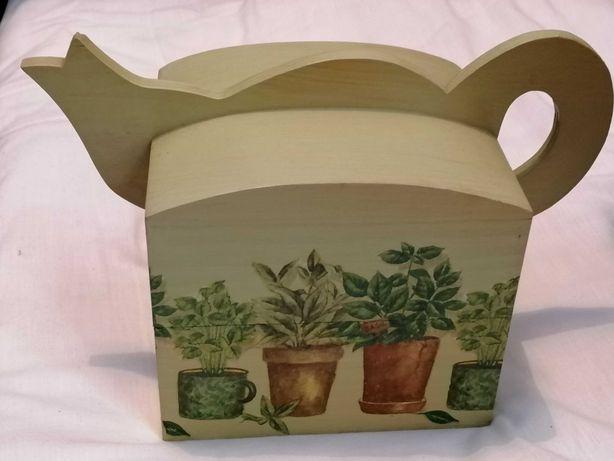 Caixa para chá em forma de bule