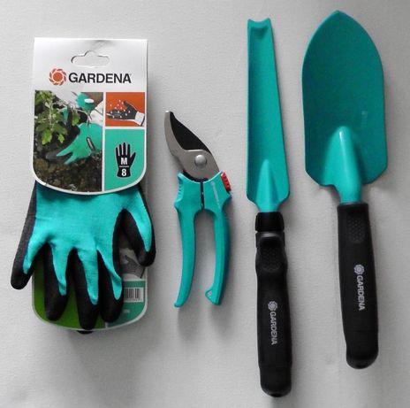 GARDENA zestaw narzędzi ogrodowych sekator rękawiczki łopatka wycinac