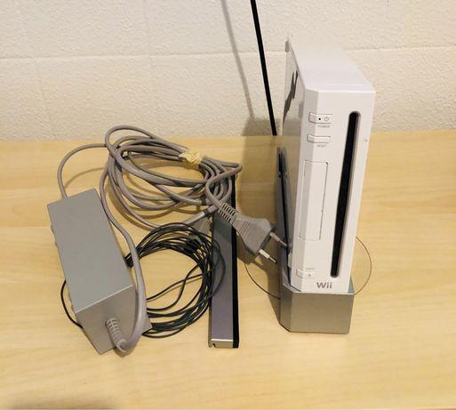 Consola Wii com varios acessorios