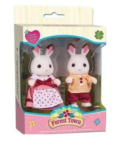 РАЗНЫЕ!Семейка кроликов Sylvanian Families,семья кроликов Happy family