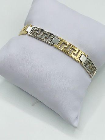 Женский брендовый золотой браслет, жіночий золотий ланцюжок