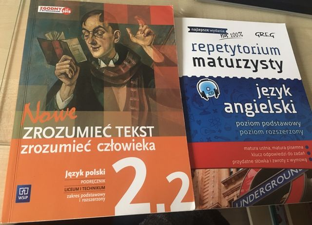 Ksiazki polski 2.2 i repeytorium maturzysty angielski