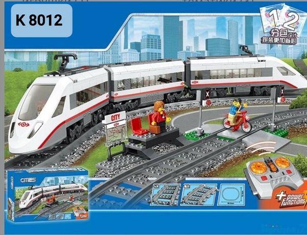 Конструктор CITIES Поезд на радиоуправлении (ан.LEGO ЛЕГО)