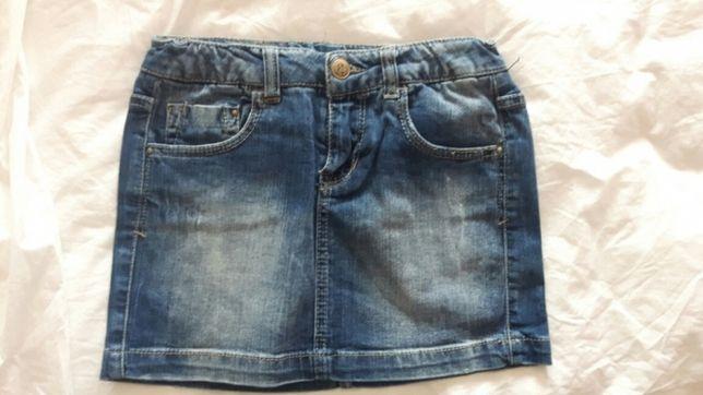 Spódniczka jeansowa dla dziewczynki 140 cm